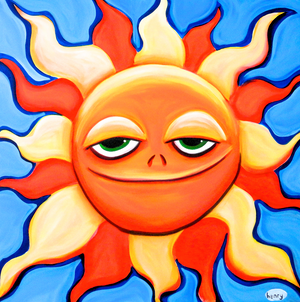 Smiling Sun Canvas Print - Art of Henry