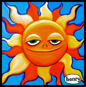 Smiling Sun Sticker - Art of Henry