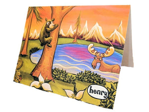The Great Outdoors Note Card - Art of Henry