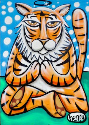 Tiger Meditation Canvas Print