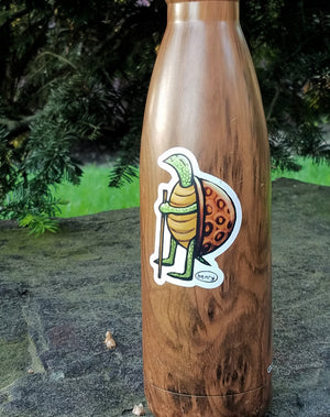 Turtle Hiking Sticker