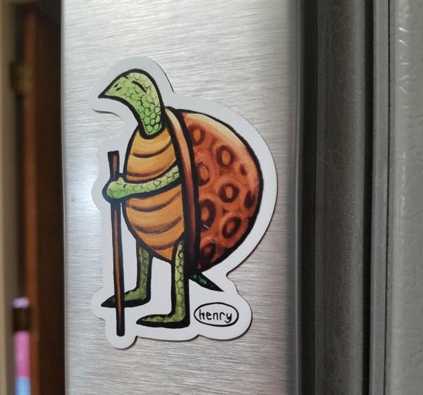 Turtle Hiking Magnet - Art of Henry