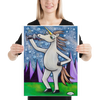 Unicorn with Wine Giclee Print Art Poster for wall decor features Original Painting by Seattle Mural Artist Henry