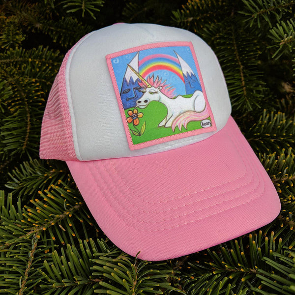 Toddler Unicorn Under the Rainbow Trucker Hat - Art of Henry
