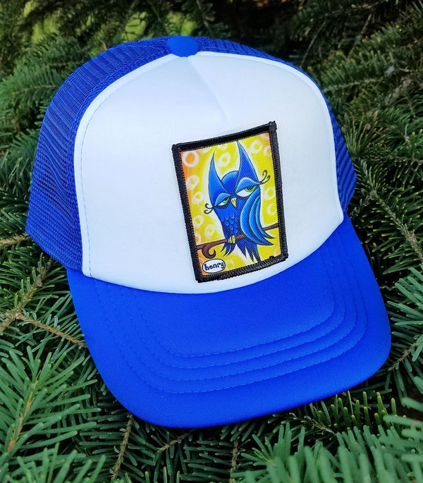 Winky Owl Little Henry Trucker Hat - Art of Henry