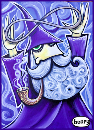 The Wizard Infinity Sticker - Art of Henry