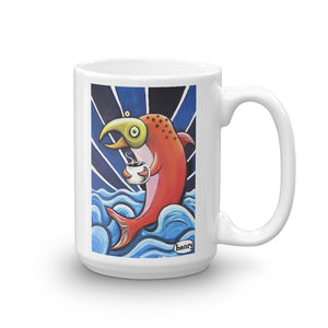 Salmon Loving Coffee Mug - featuring the original art of Henry - Art of Henry