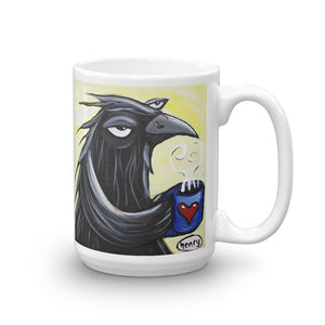 Crow on a Mug - featuring the original art of Henry - Art of Henry