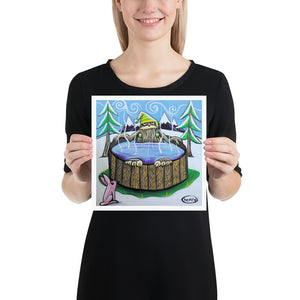 Sasquatch in a Hot Tub - Henry Print - Art of Henry