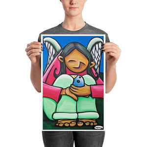 Angel Kid with Bird - Henry Print - Art of Henry