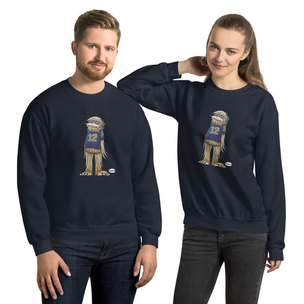 Sasquatch in his #12 shirt Unisex Sweatshirt - Art of Henry