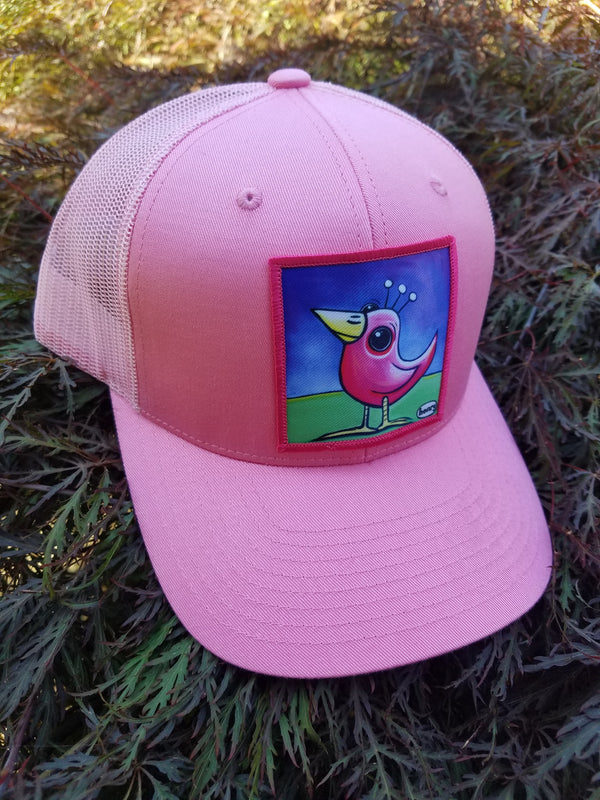 Pink Bird Adult Trucker Hat