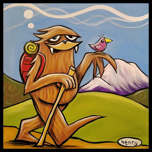 Sasquatch Hiking Sticker