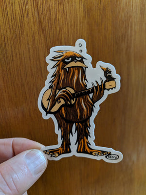 Sasquatch with Guitar Magnet - Art of Henry