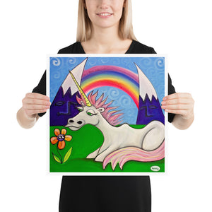 Unicorn Under the Rainbow - Henry Print - Art of Henry