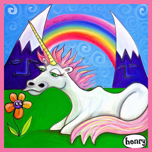 Unicorn Under the Rainbow