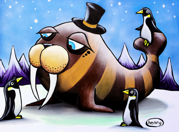 Walrus in a Top Hat