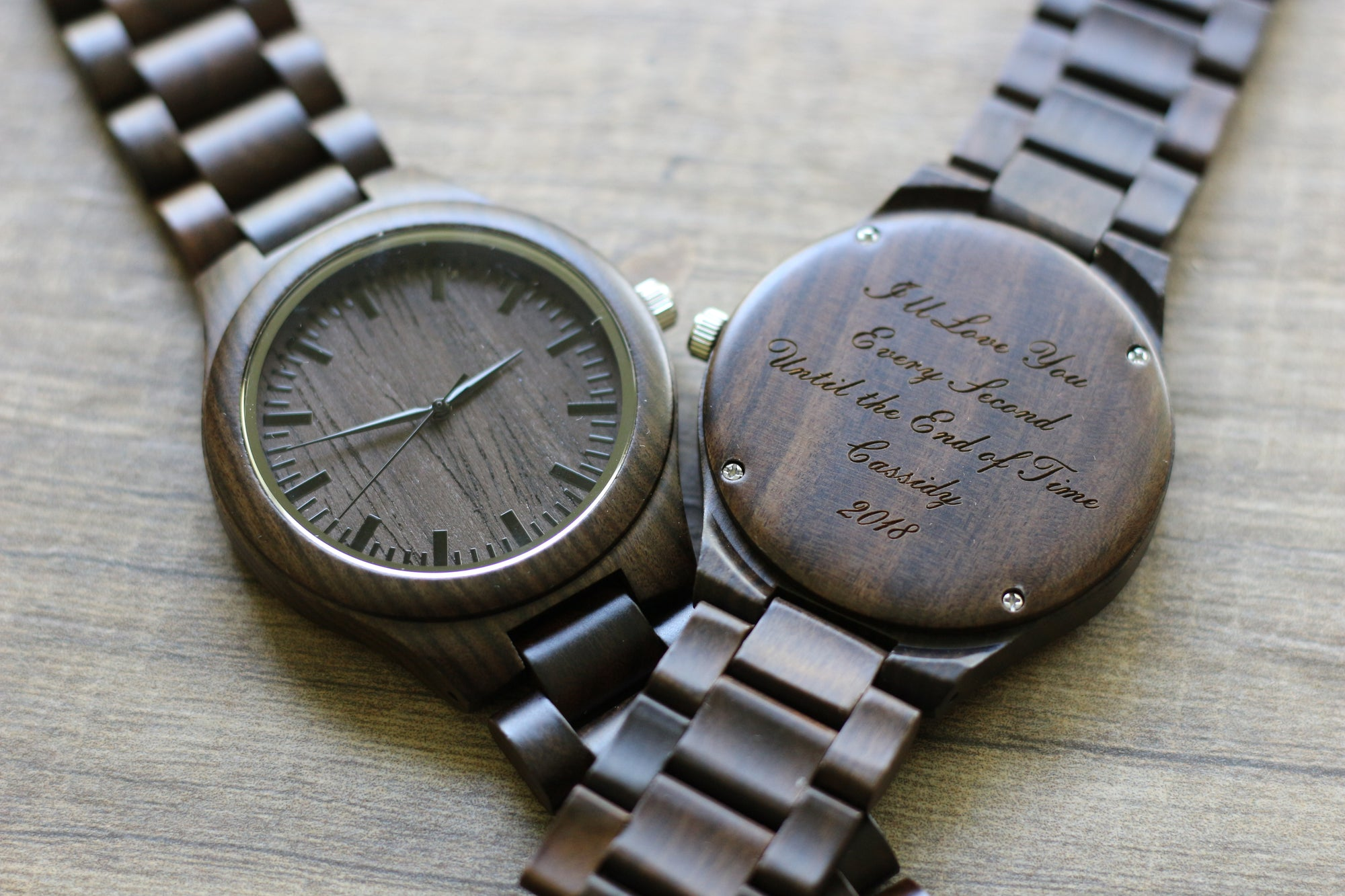 gun watches automatic custom wooden nut wood watch wewood marsh