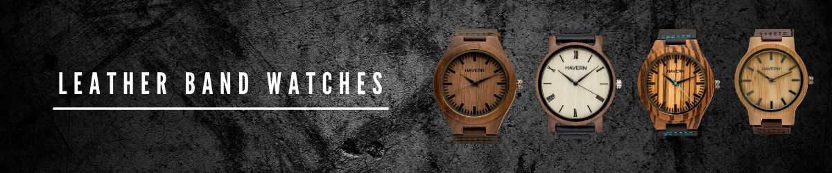 Leather Band Watches for Him | HAVERN WATCHES