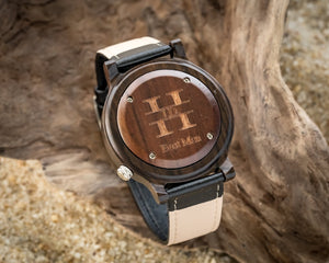 Axel Ebony | Wooden Watches Leather Band Watches HAVERN Watches