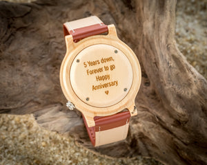 Axel Maple | Wooden Watch Leather Band Watches HAVERN Watches