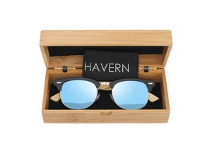 Bailee Bamboo Polarized Wooden Sunglasses Sunglasses HAVERN Watches