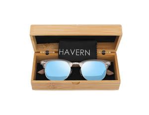 Bailee Walnut Polarized Wooden Sunglasses Sunglasses HAVERN Watches