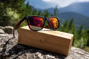 Brooks Rosewood Polarized Wooden Sunglasses Sunglasses HAVERN Watches