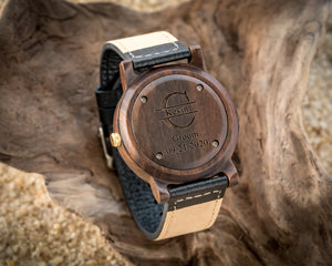 Rexford Ebony | Wooden Watch Leather Band Watches HAVERN Watches