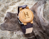 The Alleghany | Wooden Watch Leather Band Watches HAVERN Watches