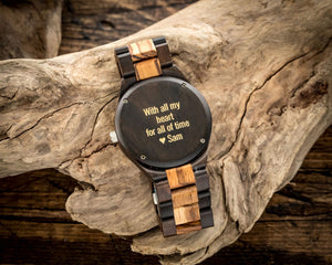 The Burl Blue | Wooden Watch Wooden Band Watches HAVERN Watches