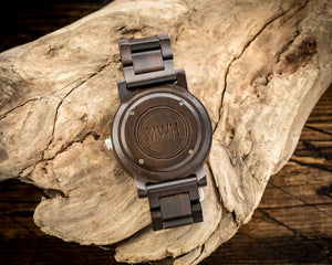 The Curtis Ebony | Wooden Watch Wooden Band Watches HAVERN Watches