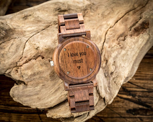 The Curtis Walnut | Set of 11 Groomsmen Wood Watches Groomsmen Watches HAVERN Watches