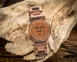 The Curtis Walnut | Set of 7 Groomsmen Wood Watches Groomsmen Watches HAVERN Watches