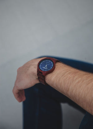 The Davis Red Sandalwood | Wooden Watch Wooden Band Watches HAVERN Watches