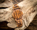The Lenny Zebrawood | Set of 7 Groomsmen Wood Watches Groomsmen Watches HAVERN Watches