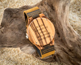 The Olympic Zebrawood | Set of 11 Groomsmen Wood Watches Groomsmen Watches HAVERN Watches