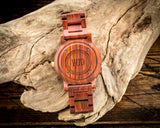 The Red Sandalwood | Set of 12 Groomsmen Wood Watches Groomsmen Watches HAVERN Watches