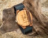 The Woodland Peak | Wooden Watch Leather Band Watches HAVERN Watches