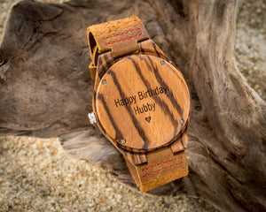 The Woodland Red | Wooden Watch Leather Band Watches HAVERN Watches