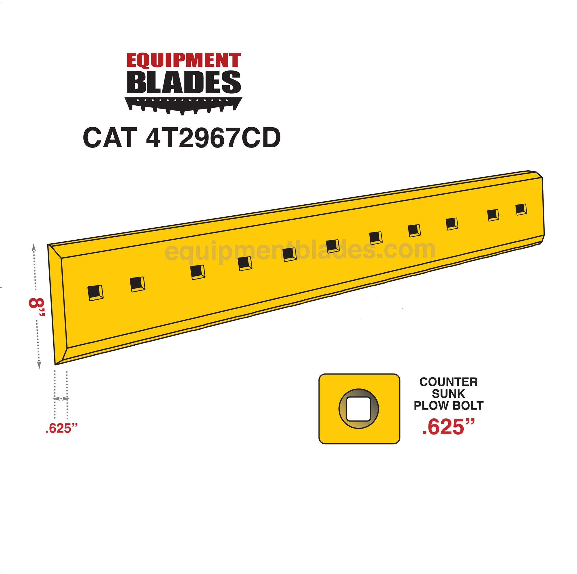 CAT 4T2967CD-Grader Blades-Equipment Blades Inc-Equipment Blades Inc