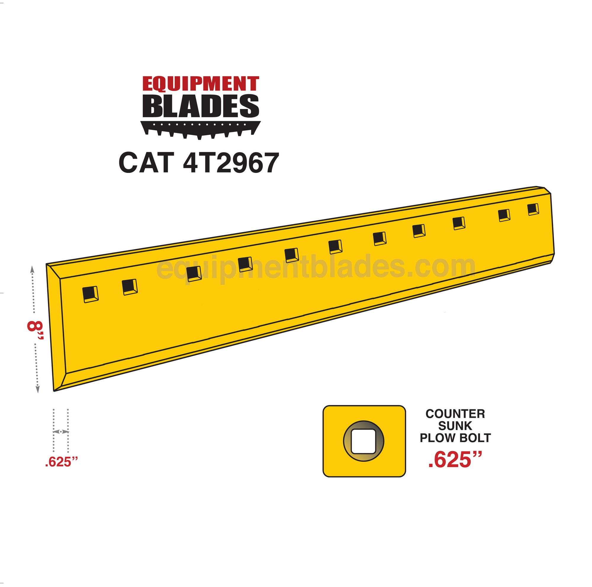CAT 4T2967-Grader Blades-Equipment Blades Inc-Equipment Blades Inc