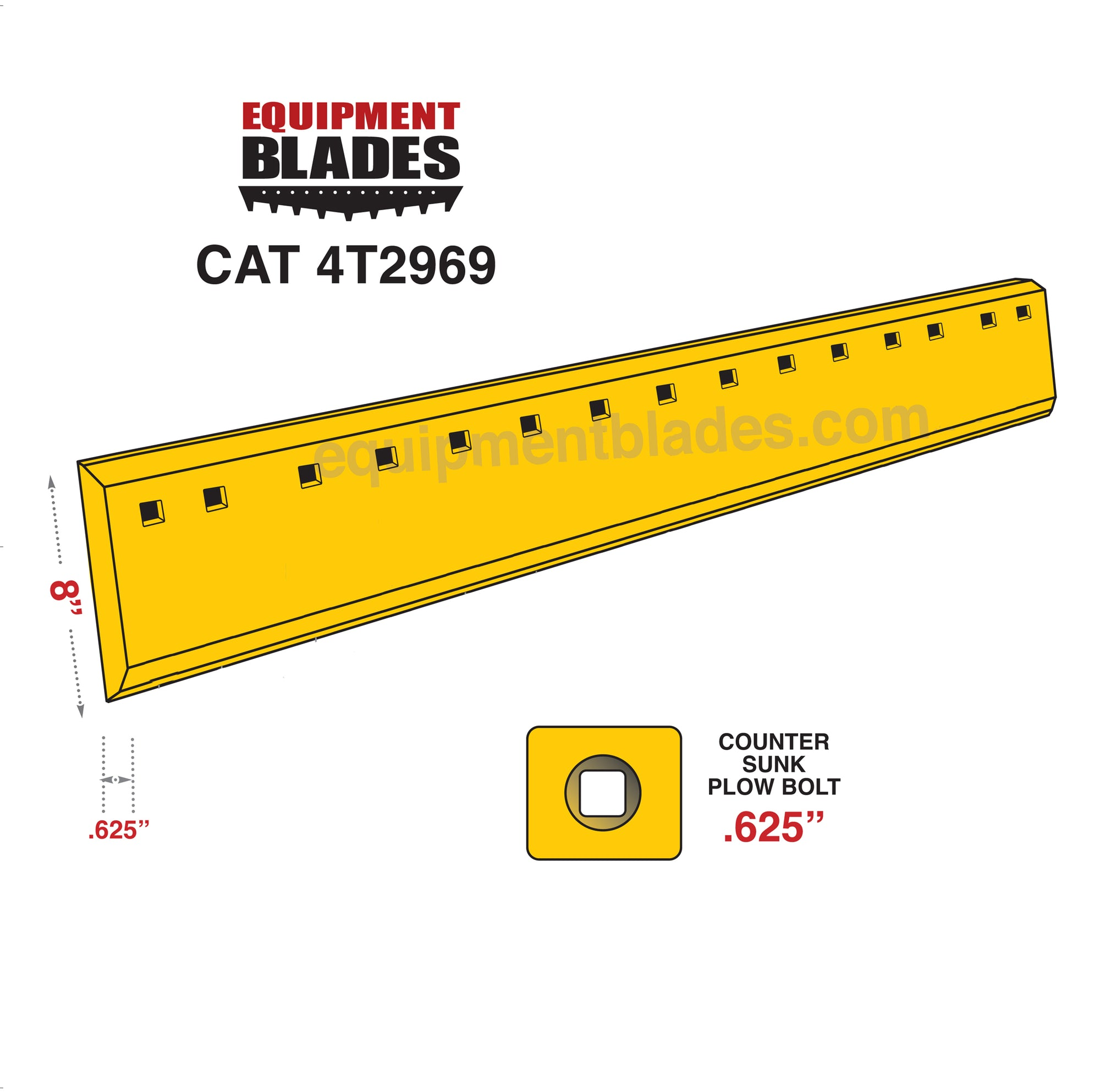 CAT 4T2969-Grader Blades-Equipment Blades Inc-Equipment Blades Inc