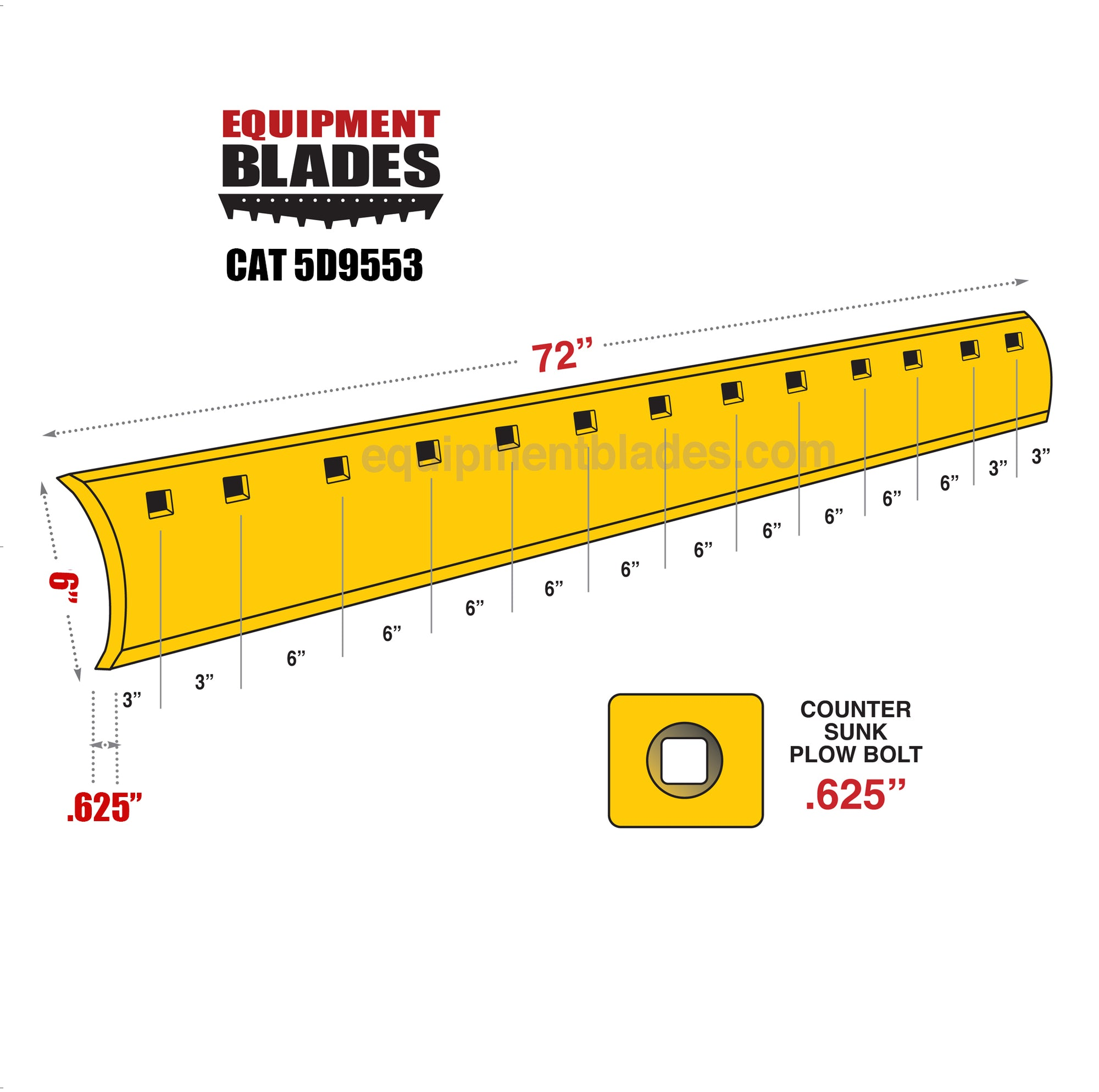 CAT 5D9553-Equipment Blades-Equipment Blades Inc