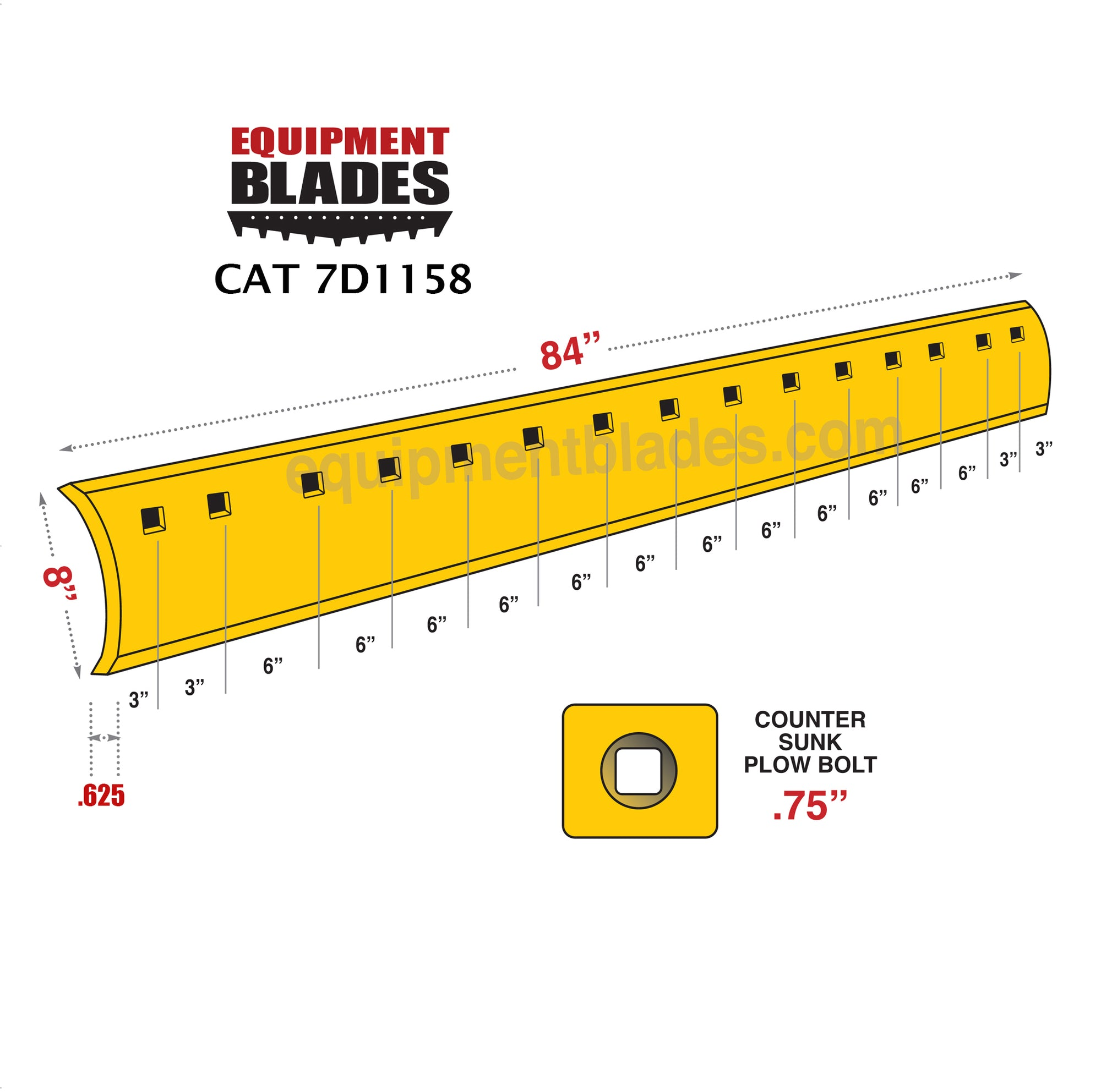 CAT 7D1158-Equipment Blades-Equipment Blades Inc