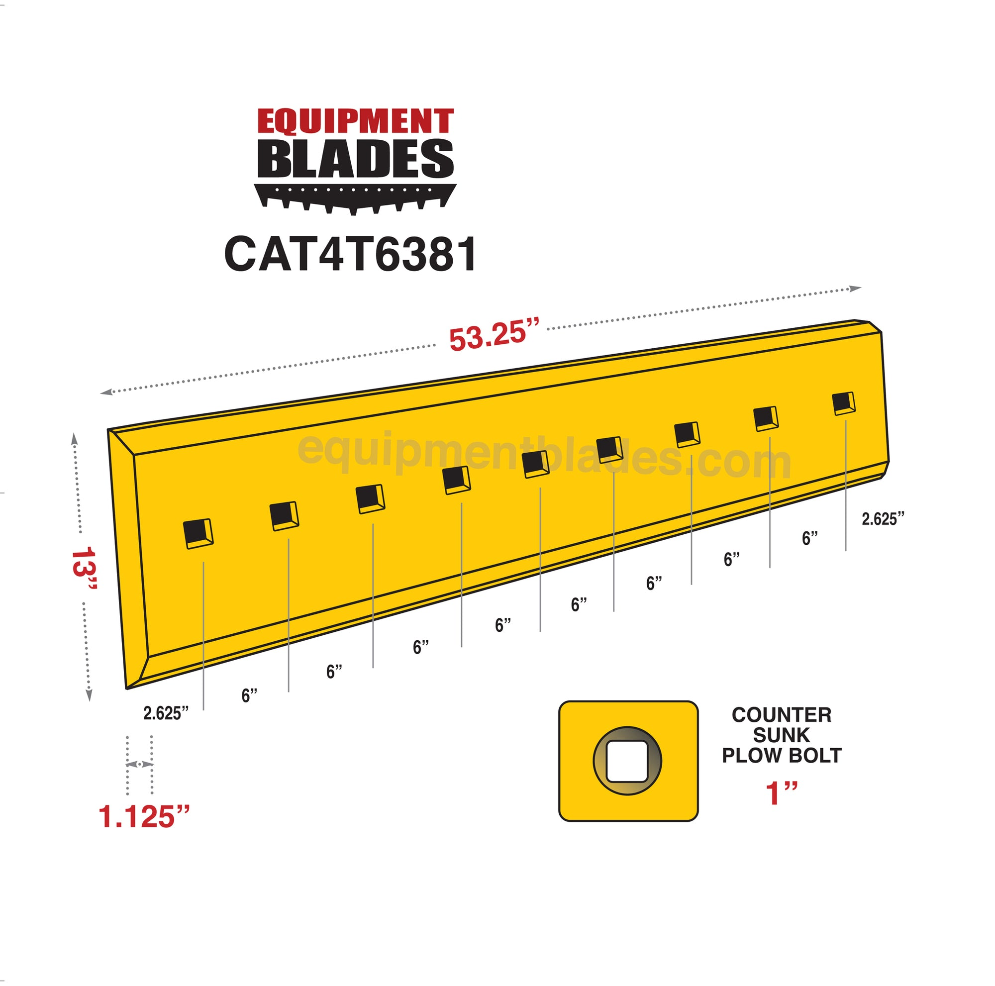 CAT 4T6381-Bull Dozer blades-Equipment Blades Inc-Equipment Blades Inc