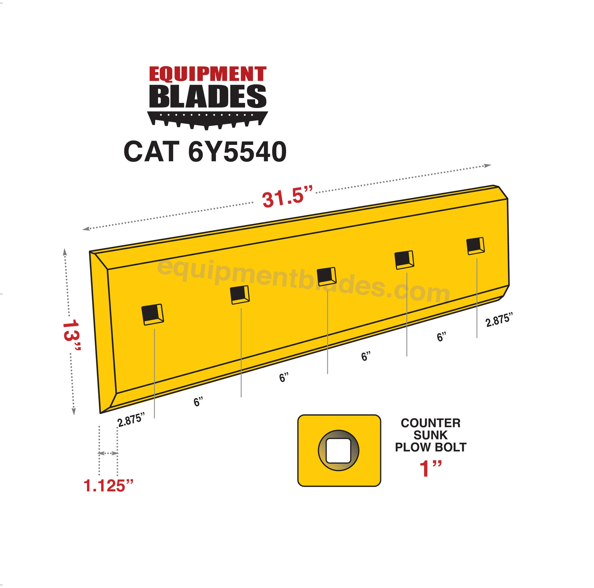 CAT 6Y5540-Bull Dozer blades-Equipment Blades Inc-Equipment Blades Inc