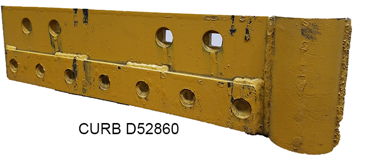 Carbide Insert with Shield Left Hand Plow Protector CURB D52860-Snow Plow Blades-Equipment Blades Inc-Equipment Blades Inc