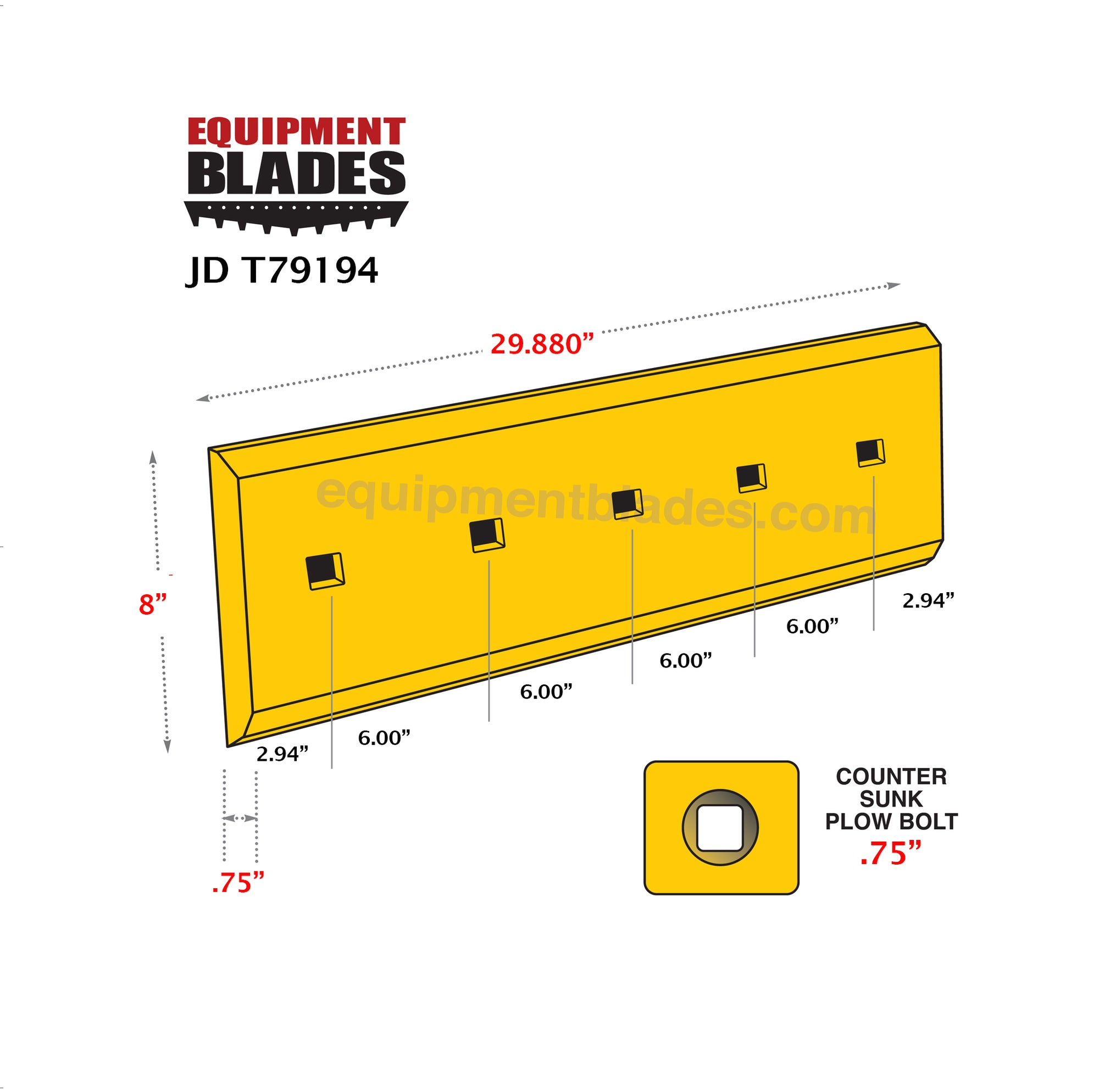 JD T79194-8-Bull Dozer blades-Equipment Blades Inc-Equipment Blades Inc