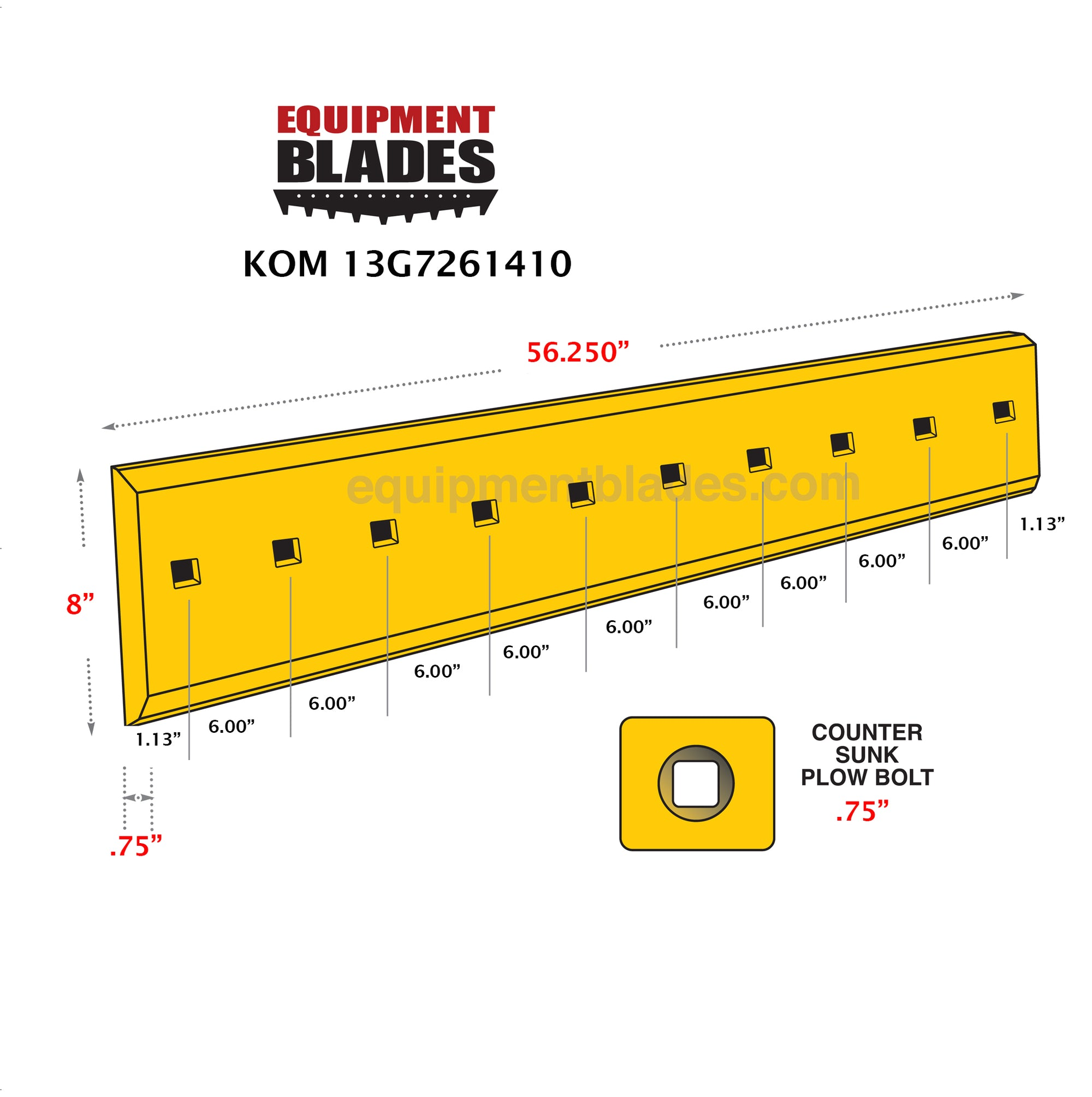 KOM 13G7261410-Bull Dozer blades-Equipment Blades Inc-Equipment Blades Inc